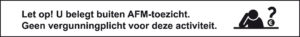 AFM vrijstelling